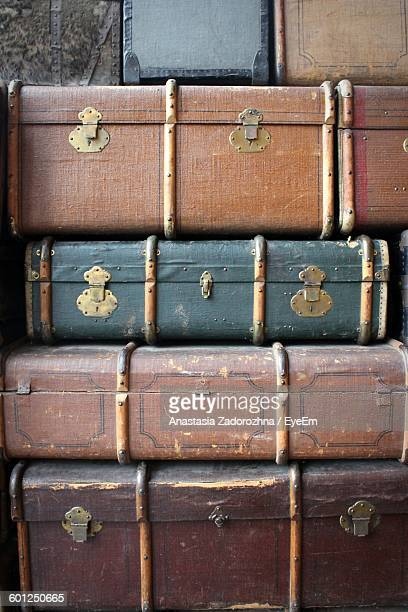 Stack Of Old Suitcase Trunks