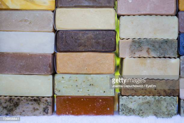Stack Of Organic Soaps