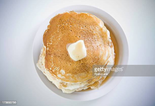 Stack of Pancakes Directly Above