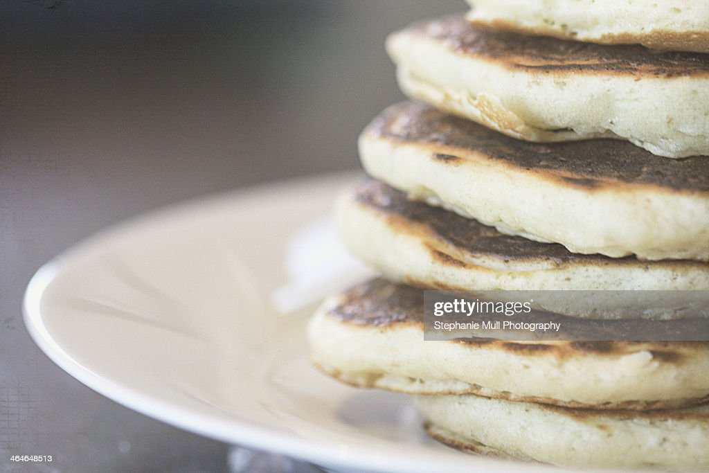 Stack of Pancakes on a Plate : Stock Photo