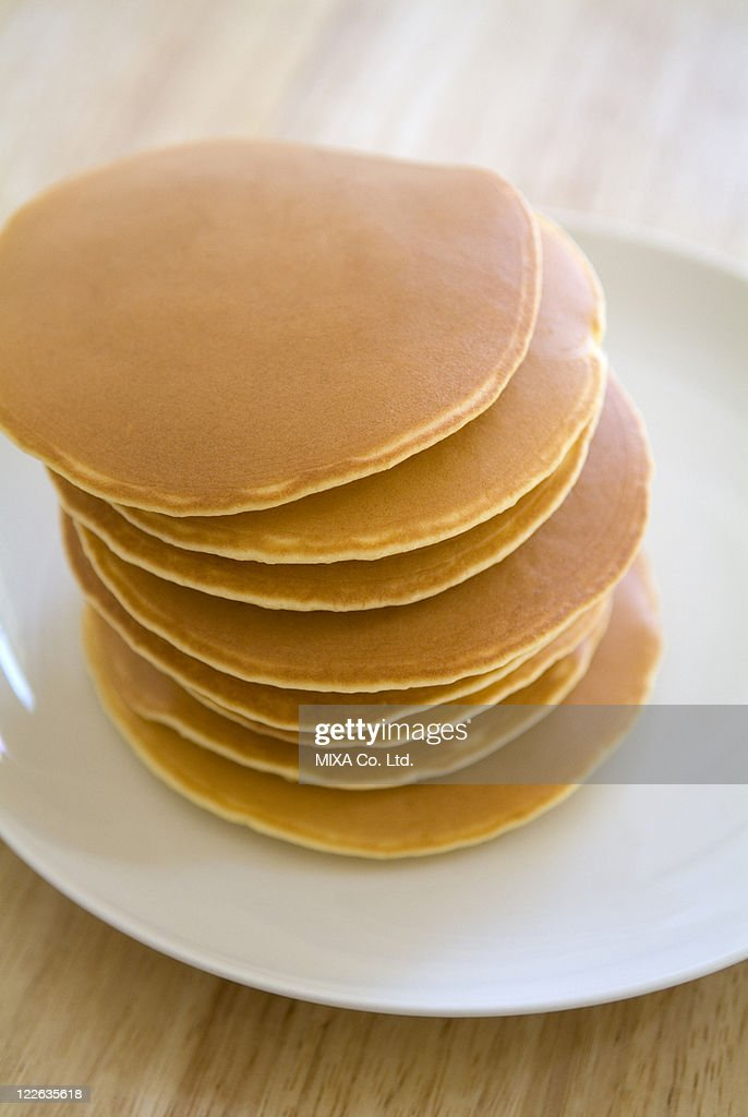 Stack of pancakes : Stock Photo