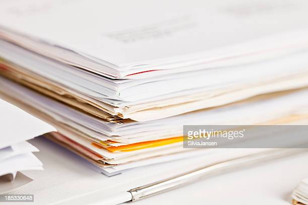 stack of papers paperwork