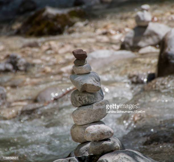 Stack Of Pebbles In Water