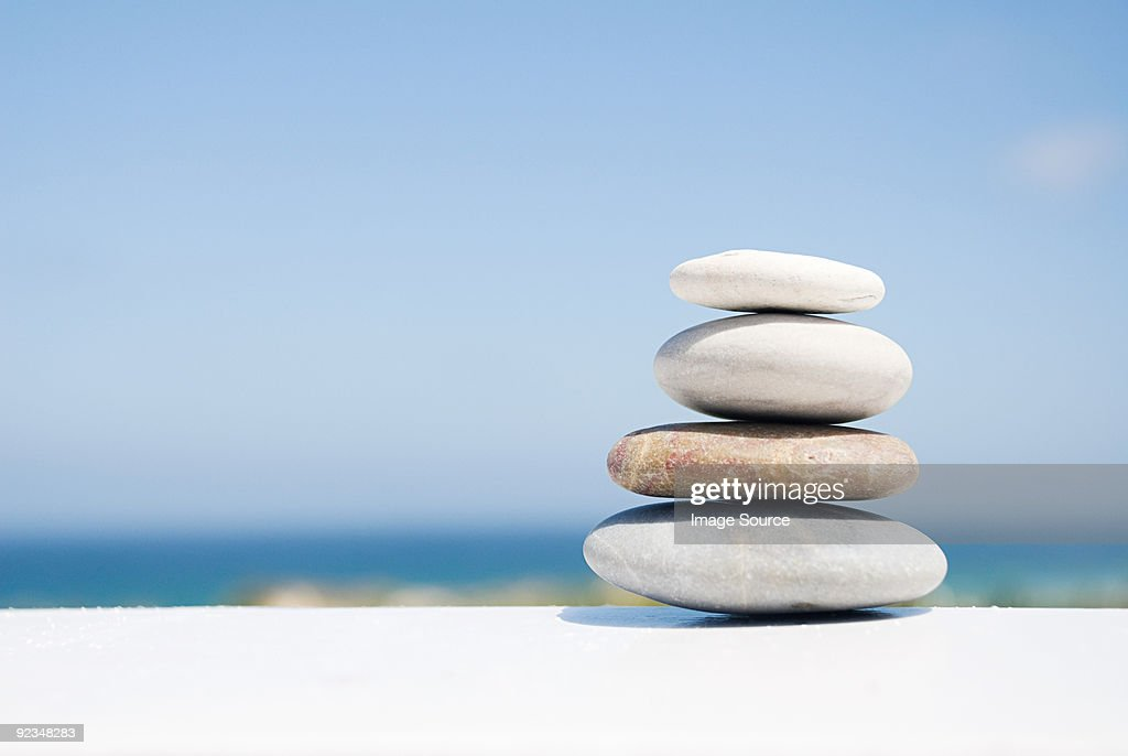 Stack of pebbles : Stock Photo