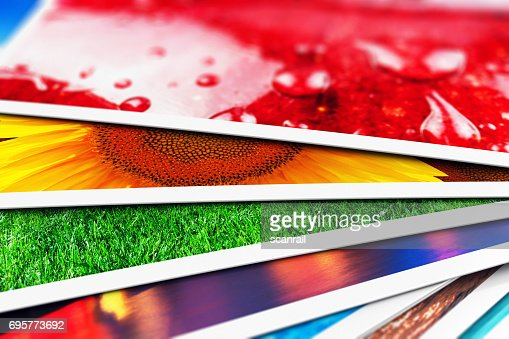 Stack of photo cards : Stock Photo