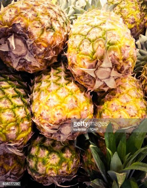 Stack of pineapples