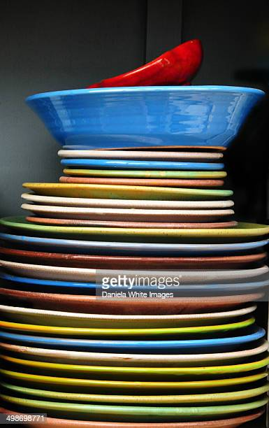A stack of plates
