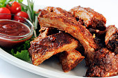 Stack of pork ribs