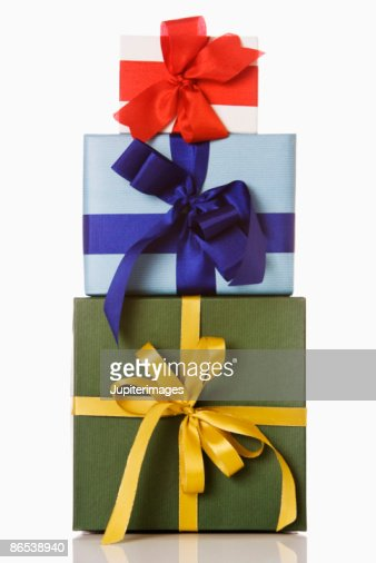 Stack of presents : Stock Photo
