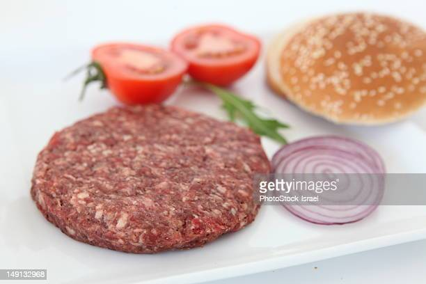 stack of Raw spiced Kebab