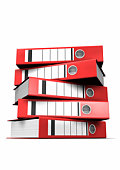 Stack of Red Lever Arch Files