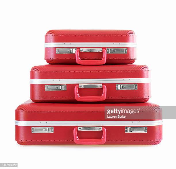 Stack of Red Suitcases