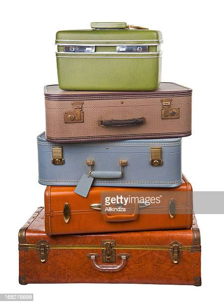 stack of retro luggage