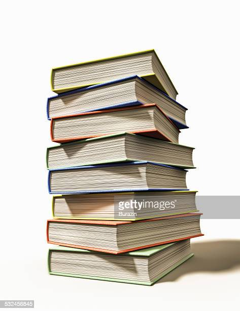 Stack of school text books