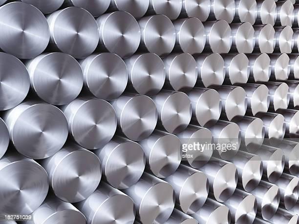 Pile d'acier inoxydable fond en courbe