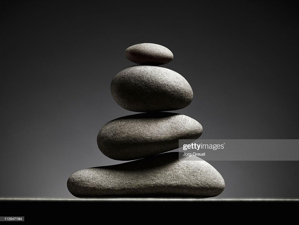 A stack of stones : Stock Photo