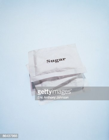 Stack of sugar packets