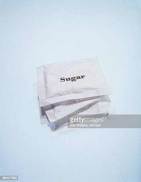Stack of sugar packets