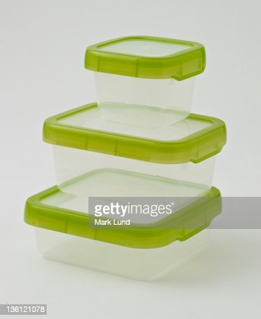 Stack of Tupperware