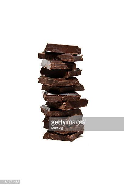 A stack of twelve chocolate squares