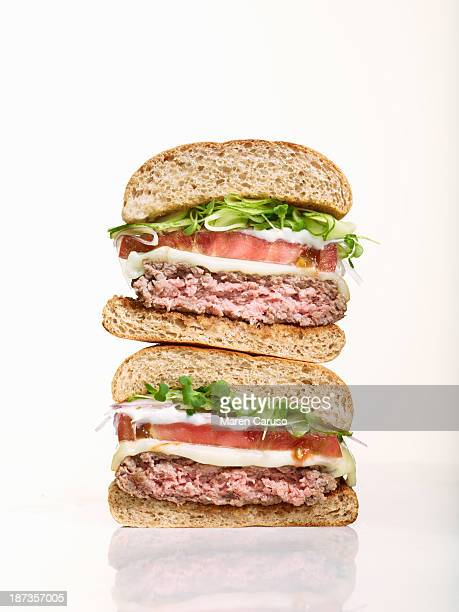 Stack of Two Hamburger Halves