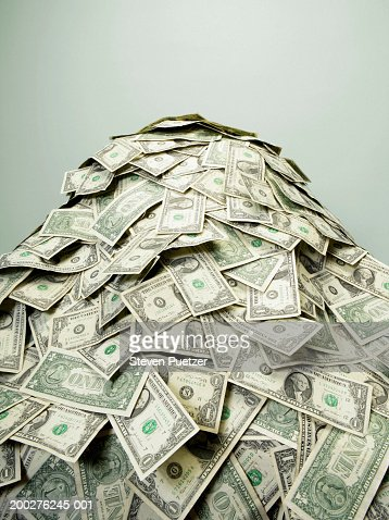 Stack of US paper currency