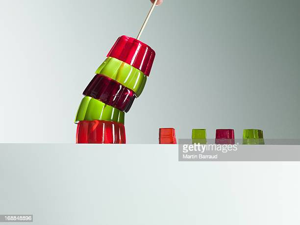 Pilha de vibrante Gelatina Inclinar-se por pequena Gelatina Cubos