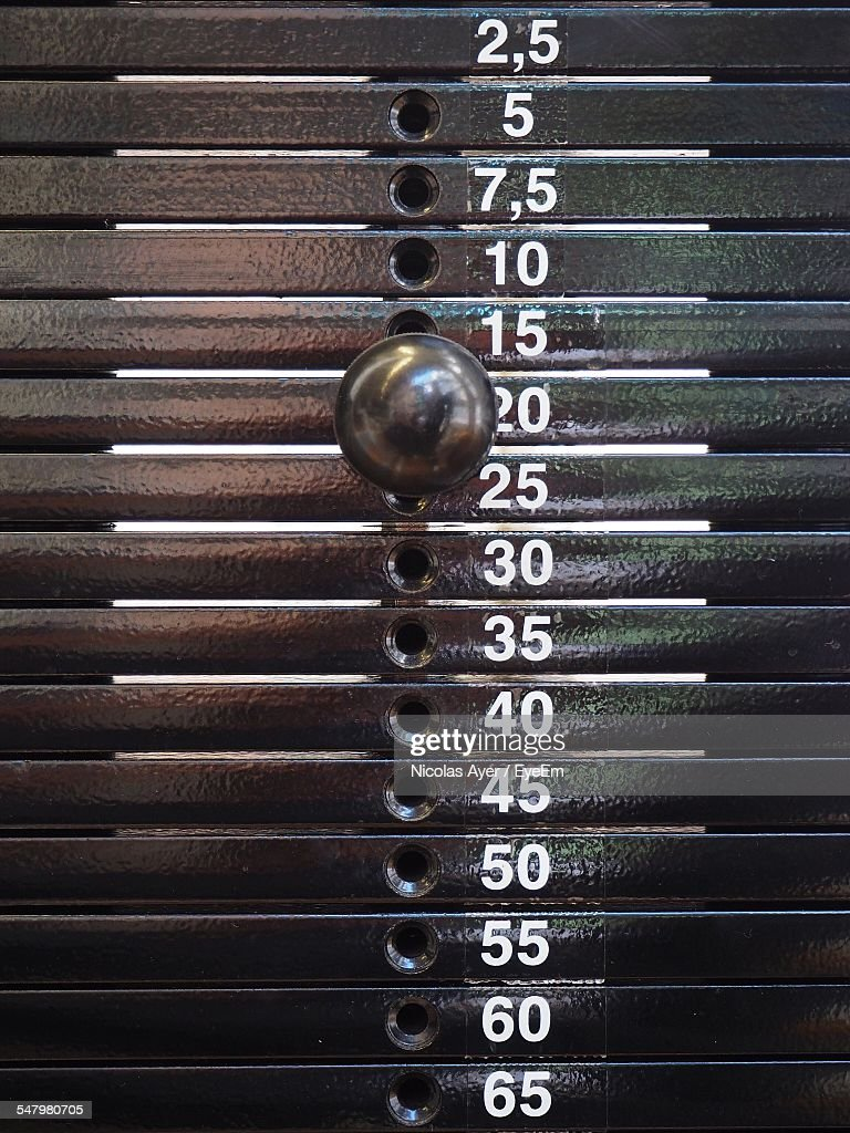 Stack Of Weights In Gym