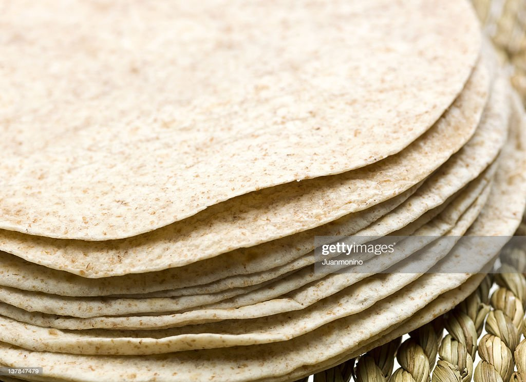 Stack of whole wheat Tortillas