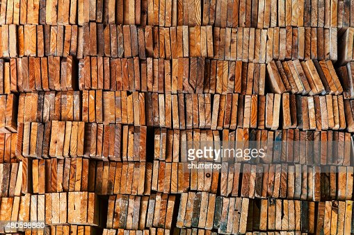 stack of wood logs for background : Stock Photo