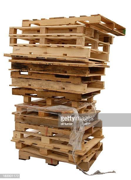 Stapel Holz Paletten