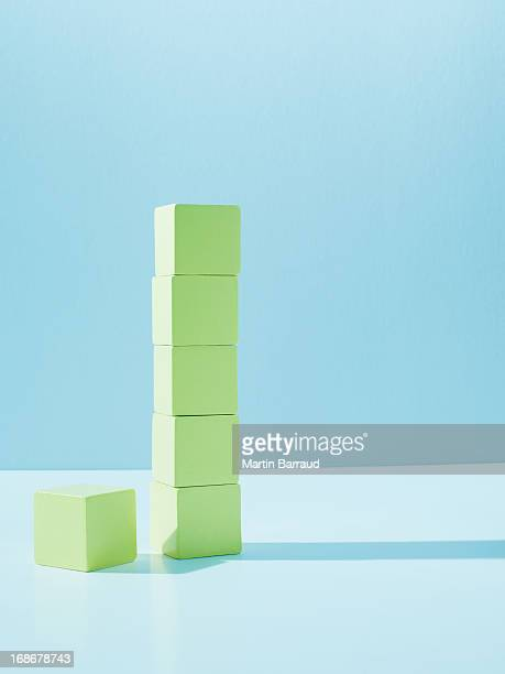 Stack of yellow blocks