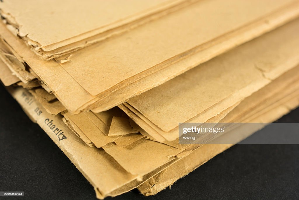 Stack of Yellowed Newspapers : Stock Photo
