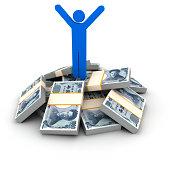 Stack of Yen bills