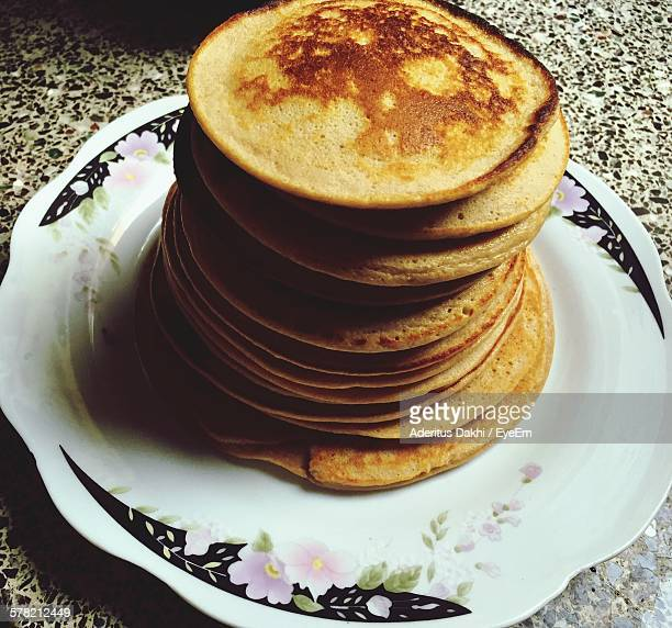 Stack On Pancakes In Plate