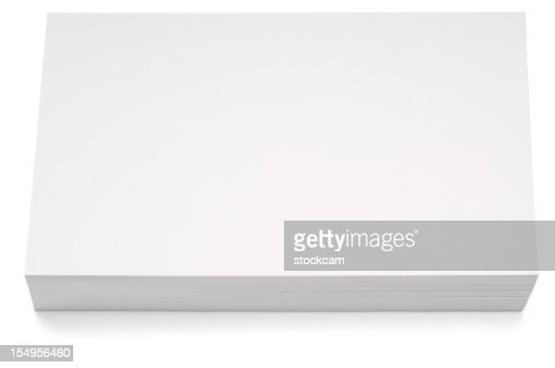Stacked blank index card isolated on white