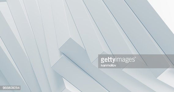 Stacked clean boxes abstract background. 3D Rendering : Stock Photo