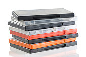 A colorful plastic blank DVD video cases