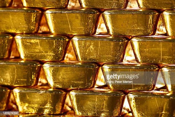 stacked gold ingots