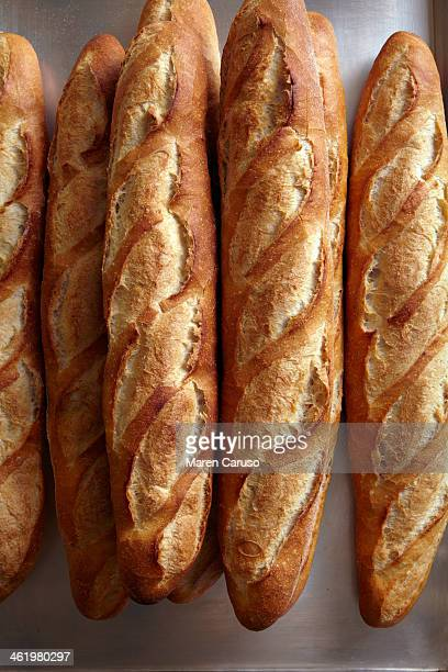Stacked loaves of bread