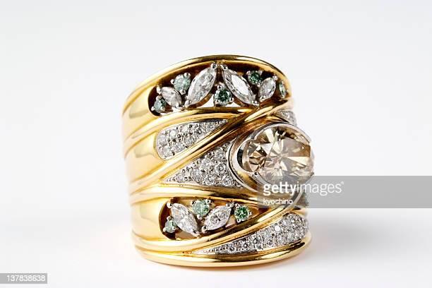 Vintage or Bague en diamant