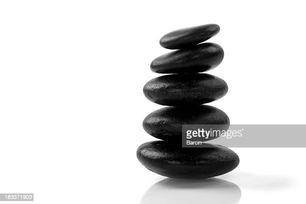 Stacked massage stones