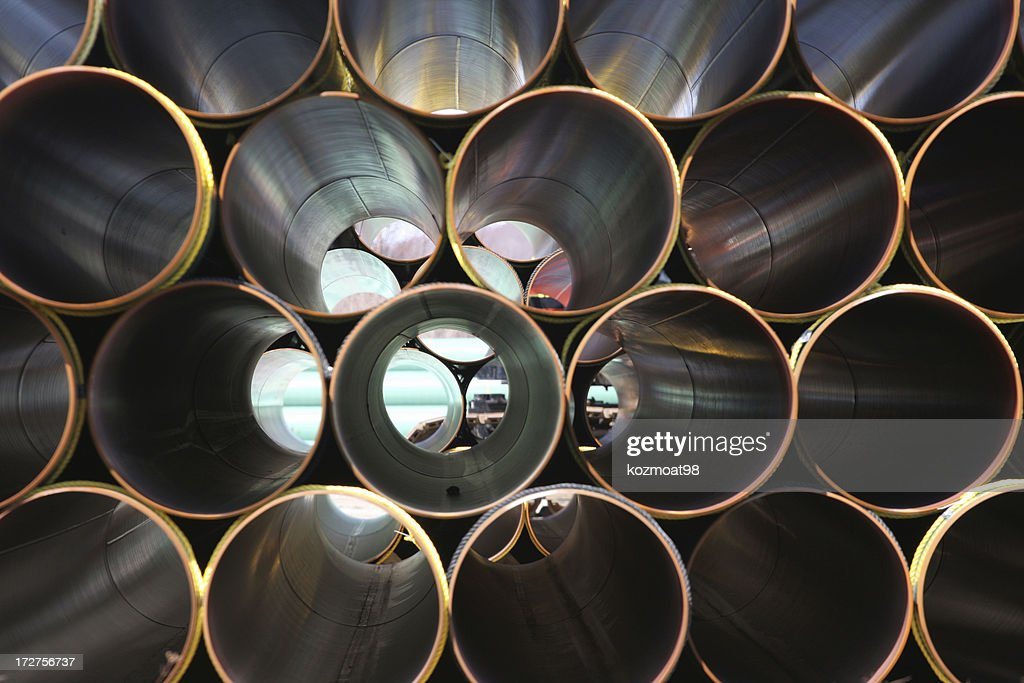 Stacked Steel Pipe Abstract