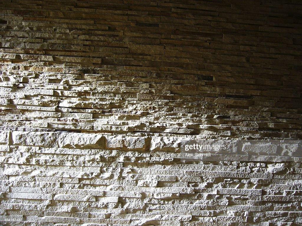 Stacked stone wall : Stock Photo