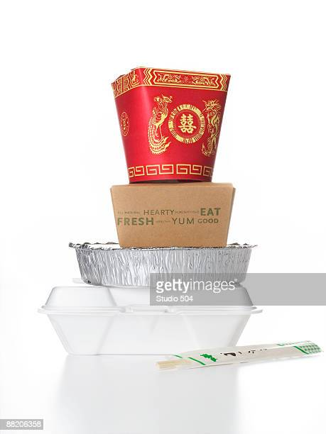 Stacked take out food