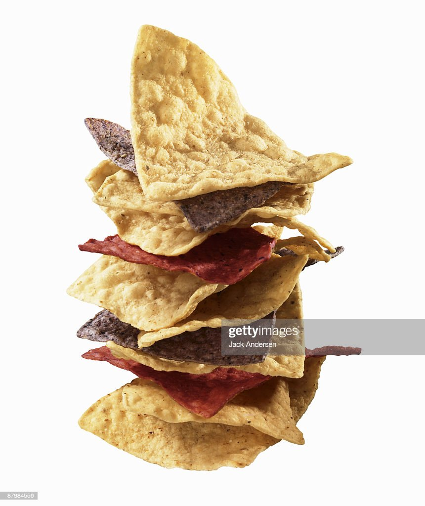 Stacked tortilla chips : Stock Photo