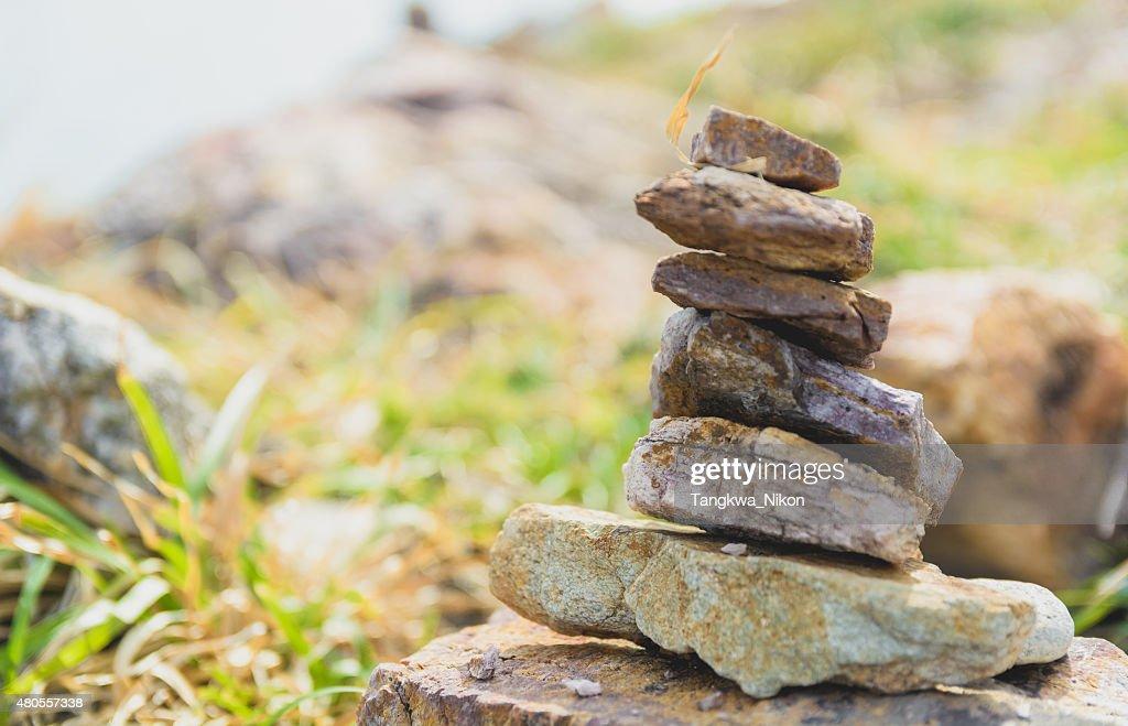 Stacking stone : Stock Photo