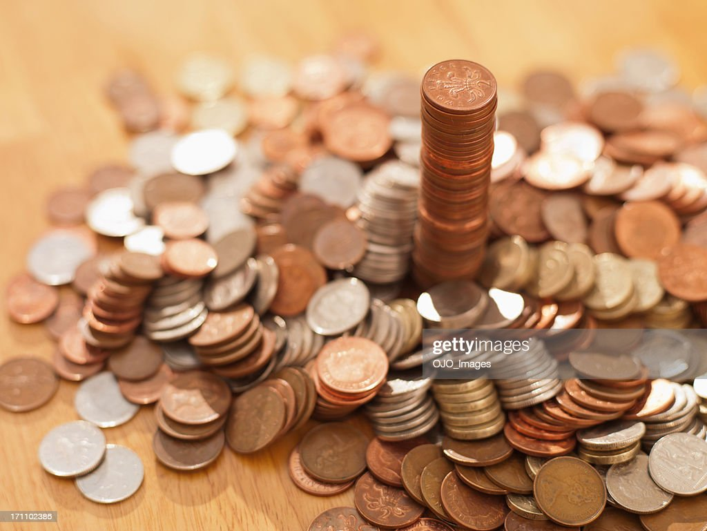 Stacks of coins : Stock Photo