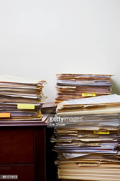 stacks of files