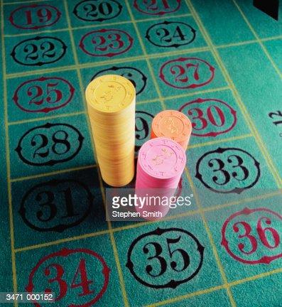 Stacks of Gambling Chips : Stock Photo